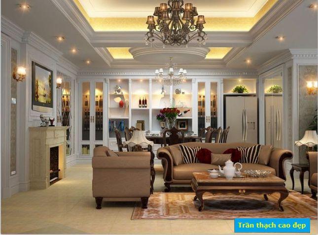 Mẫu trần thạch cao Tân Cổ Điển cho Phòng Ăn-> Hình 2