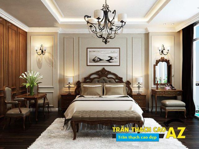 Mẫu trần thạch cao Tân Cổ Điển cho Phòng Ngủ -> Hình 3