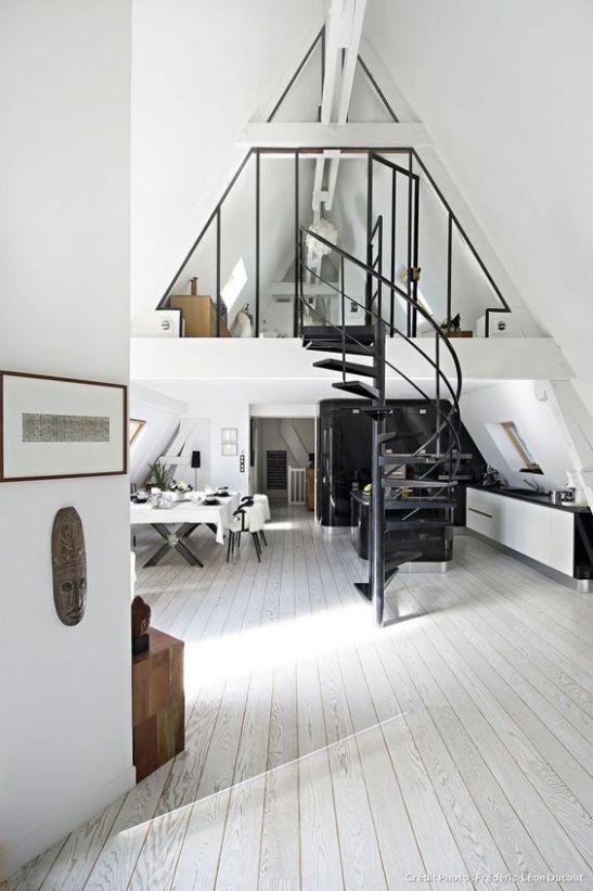 Một số mẫu thiết kế phòng khách có kết hợp cầu thang - Mẫu 10