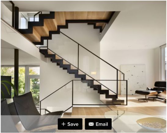 Một số mẫu thiết kế phòng khách có kết hợp cầu thang - Mẫu 3