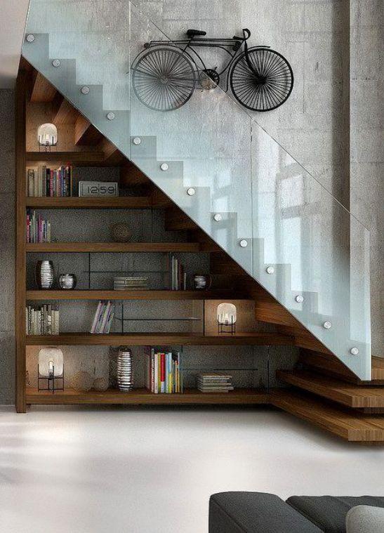 Một số mẫu thiết kế phòng khách có kết hợp cầu thang - Mẫu 4