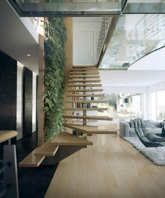Một số mẫu thiết kế phòng khách có kết hợp cầu thang - Mẫu 5