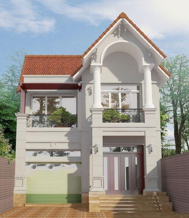 Nhà mái thái 2 tầng kiểu Pháp