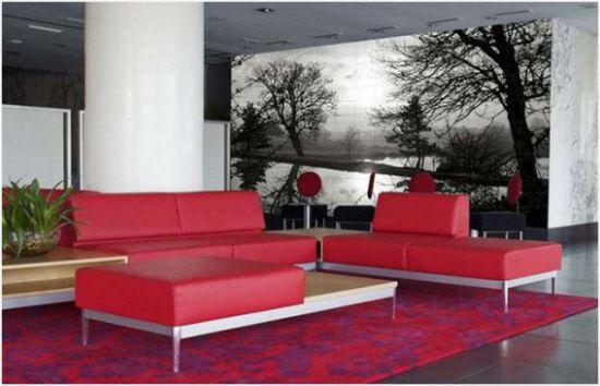 Mẫu phòng khách với tranh dán tường - Hình 1