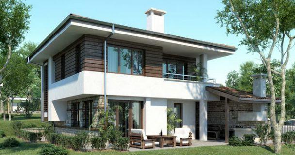 Mẫu thiết kế nhà 2 tầng 3 phòng ngủ – Kiểu nhà phố Hiện Đại 2019