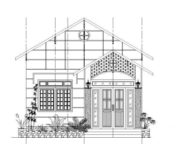 Bản vẽ thiết kế nhà cấp 4 diện tích 90m2 mái thái Truyền Thống