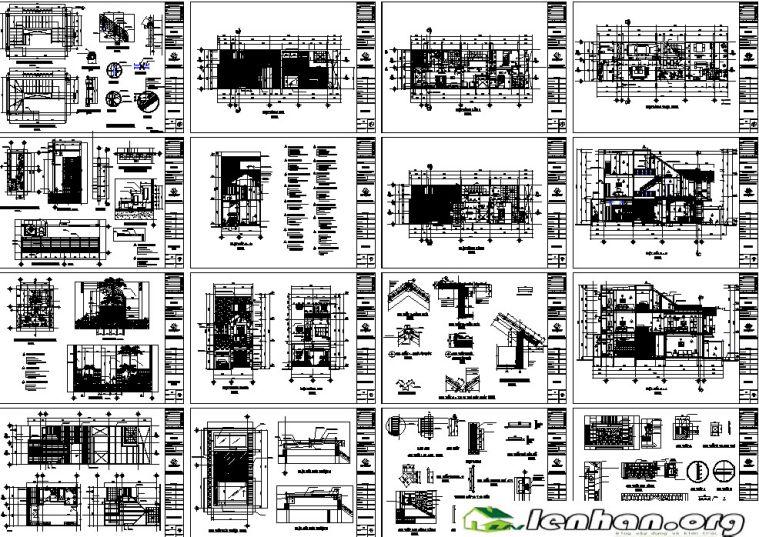 Bản vẽ nhà phố 6x19x2.5 tầng