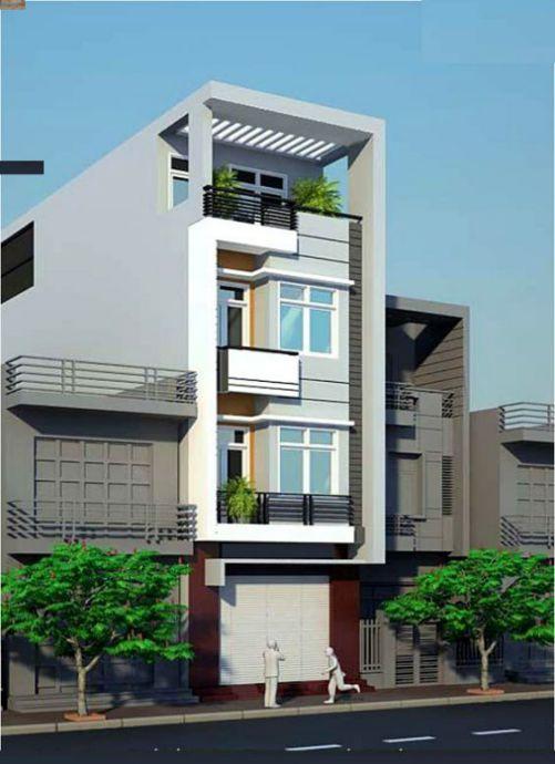 Thiết kế nhà phố rộng 6m (hình 3)