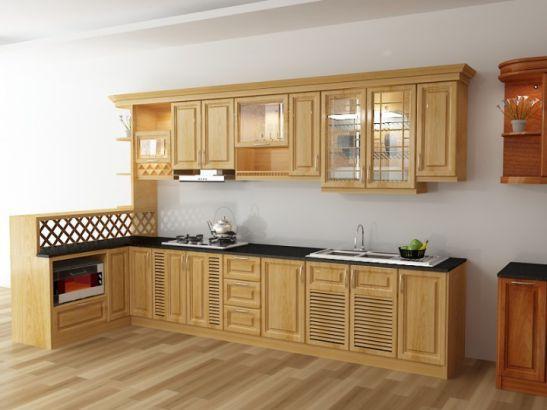 Mẫu Nhà Bếp Đẹp Với Nội Thất Bằng Gỗ Hình Số 9