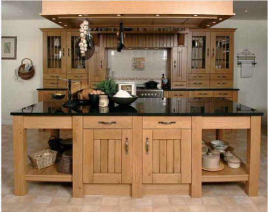 Mẫu Nhà Bếp Đẹp Với Nội Thất Bằng Gỗ Hình Số 5