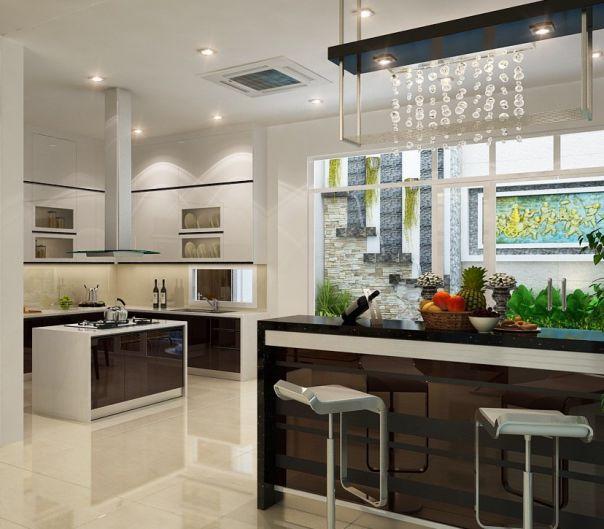 Mẫu trần thạch cao đẹp cho Phòng Bếp -> Hình 10