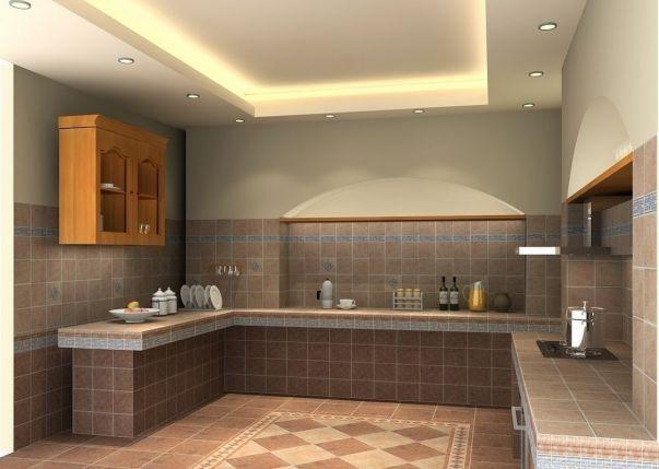 Mẫu trần thạch cao đẹp cho Phòng Bếp -> Hình 5
