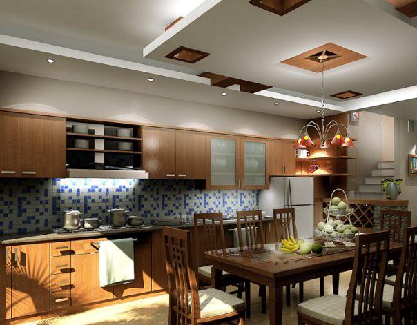 Mẫu trần thạch cao đẹp cho Phòng Bếp -> Hình 9