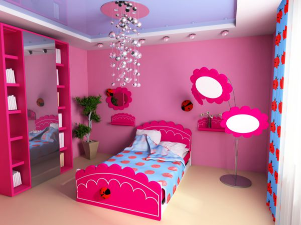 Trần thạch cao phòng ngủ bé gái -> Mẫu 2