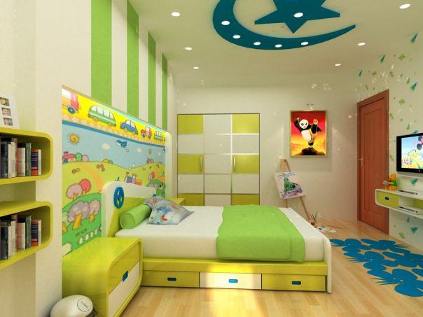Trần thạch cao phòng ngủ bé trai -> Mẫu 3