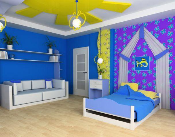 Trần thạch cao phòng ngủ bé trai -> Mẫu 5