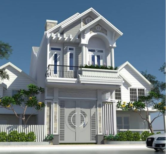 Mẫu nhà 2 tầng với diện tích nhỏ.