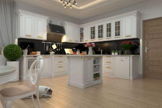 Nội thất nhà bếp với đường nét tinh tế - Mẫu 10
