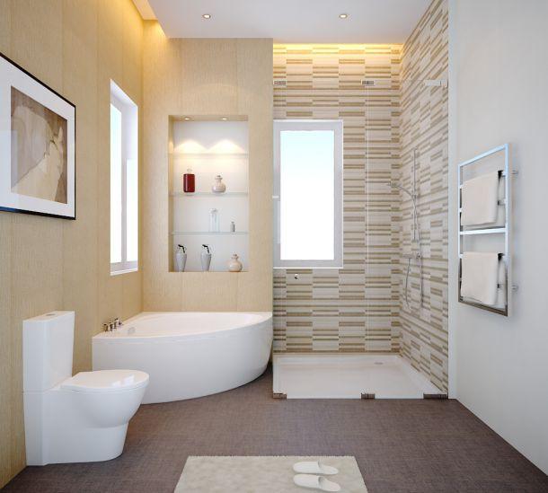 Nhà tắm là nơi để xả những mệt mỏi sau một ngày làm việc.