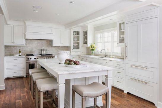 Mẫu Tủ Bếp Đẹp Với Màu Trắng Tao Nhã - Hình 4