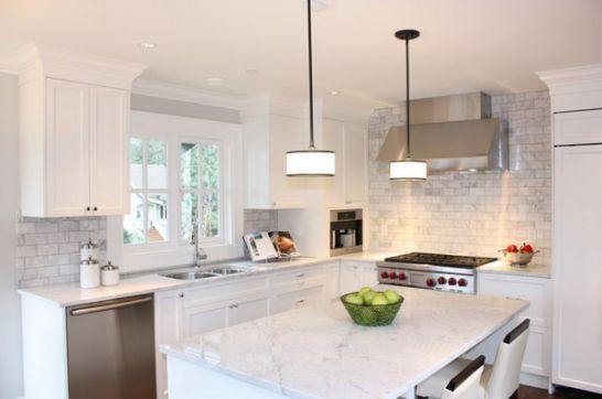 Mẫu Tủ Bếp Đẹp Với Màu Trắng Tao Nhã - Hình 11