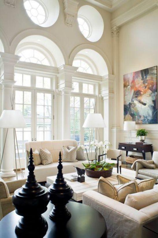 Mẫu thiết kế phòng khách đẹp với kiến trúc tân cổ điển - Phối cảnh 7