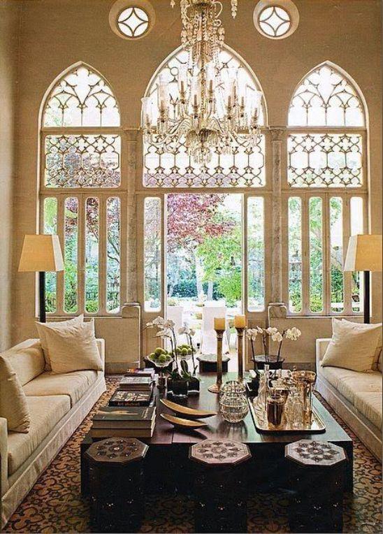 Mẫu thiết kế phòng khách đẹp với kiến trúc tân cổ điển - Phối cảnh 6