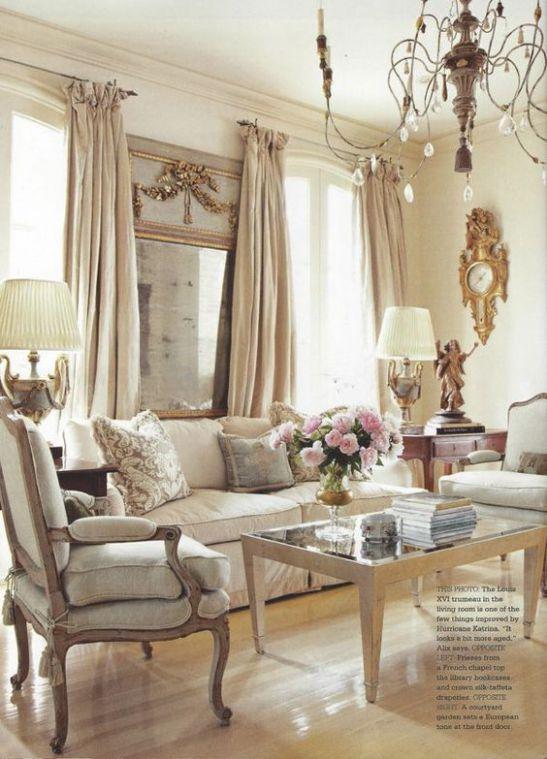 Mẫu thiết kế phòng khách đẹp với kiến trúc tân cổ điển - Phối cảnh 3