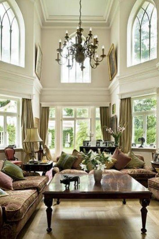 Mẫu thiết kế phòng khách đẹp với kiến trúc tân cổ điển - Phối cảnh 2