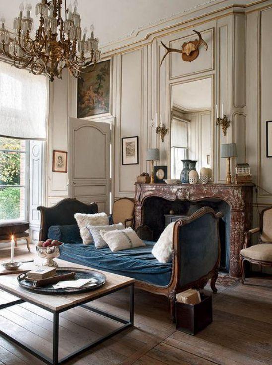 Mẫu thiết kế phòng khách đẹp với kiến trúc tân cổ điển - Phối cảnh 1