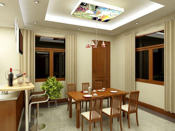 Trần thạch cao hình chữ nhật cho Nhà Bếp + Phòng Ăn -> Mẫu 2