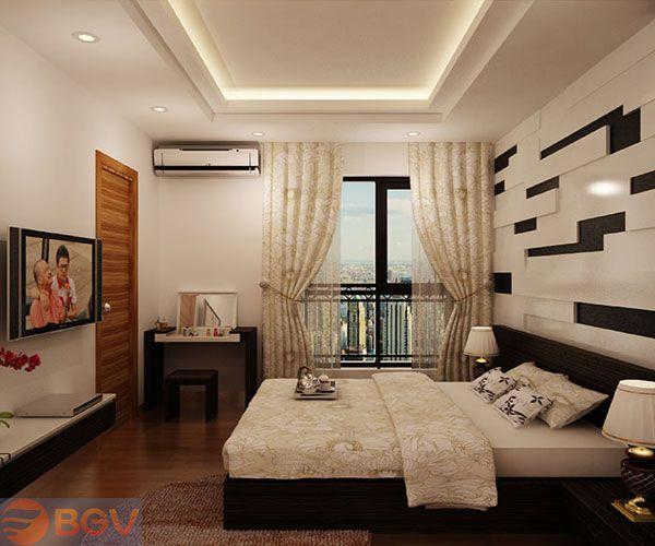 Trần thạch cao hình chữ nhật cho Phòng Ngủ -> Mẫu 1