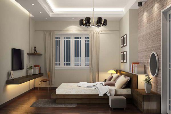 Trần thạch cao hình chữ nhật cho Phòng Ngủ -> Mẫu 2