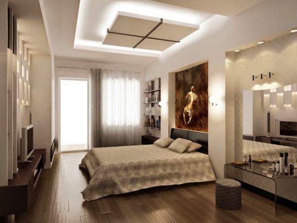 Trần thạch cao hình chữ nhật cho Phòng Ngủ -> Mẫu 3