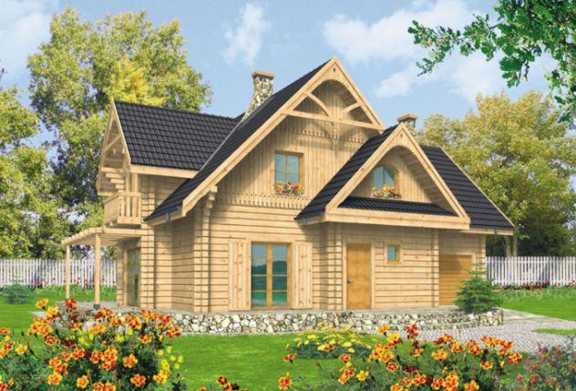 Mẫu nhà cấp 4 hiện đại diện tích 13,5x11m tường ốp bằng gỗ