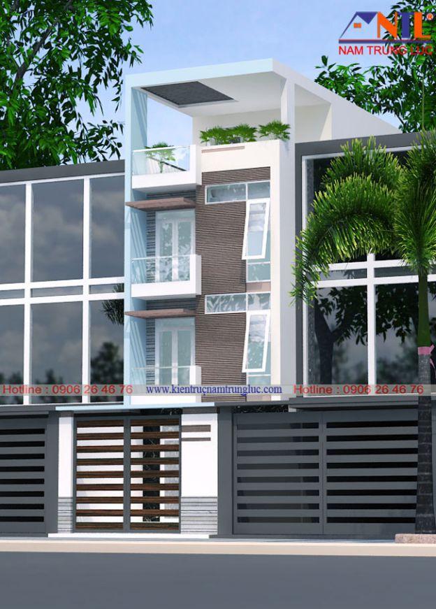 Mẫu thiết kế nhà phố đẹp diện tích 5x10m gia đình Anh Hùng Quận 12