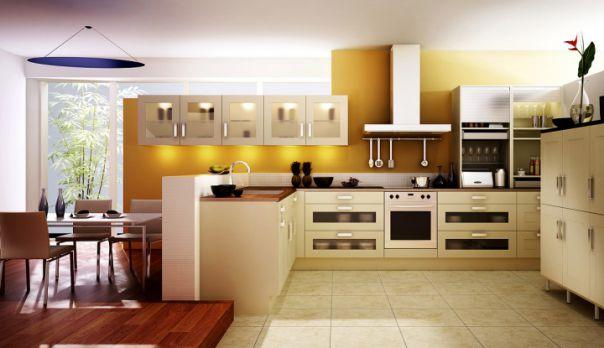 Những mẫu tủ bếp đẹp nhất 2019 với sự kết hợp màu sắc tươi sáng