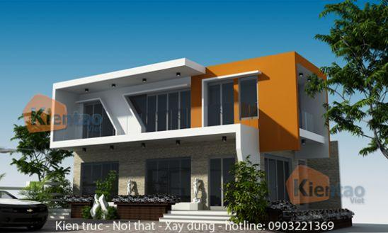 Tư vấn thiết kế nhà biệt thự 2 tầng hiện đại diện tích 80m2