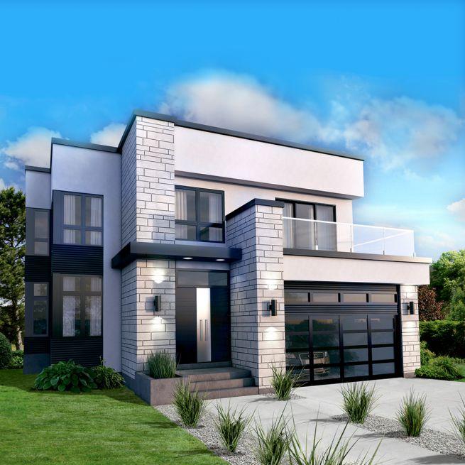 Mẫu thiết kế biệt thự 2 tầng phong cách hiện đại 12,8x15m