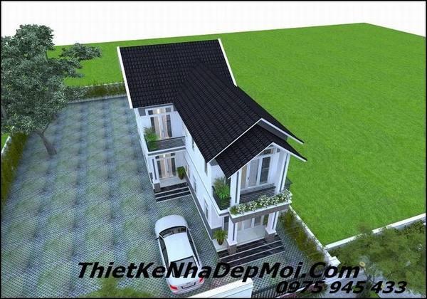 Mẫu nhà mái thái 2 tầng 7x16m