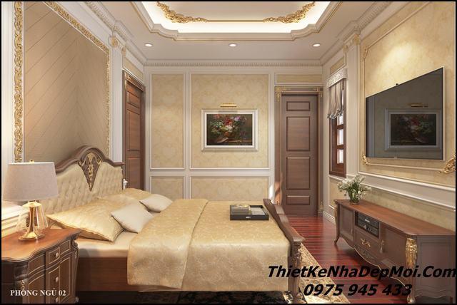 Mẫu phòng ngủ đẹp   Mẫu thiết kế nội thất biệt thự tân cổ điển đẹp năm 2019 mau phong ngu dep