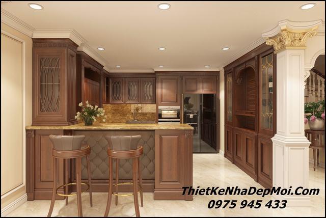 Nội thất bếp đẹp bằng đồ gỗ