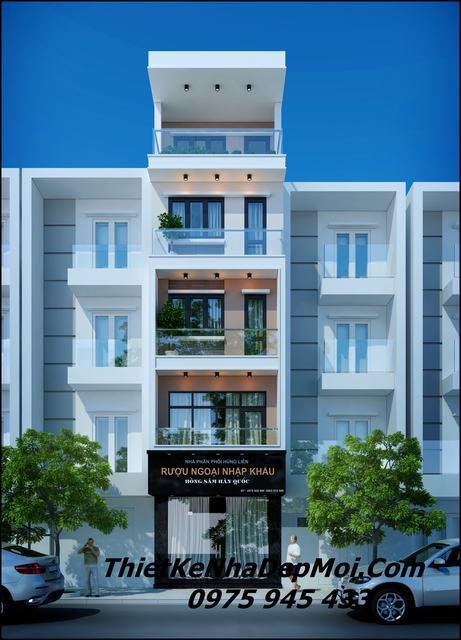 kiến trúc nhà phố kinh doanh