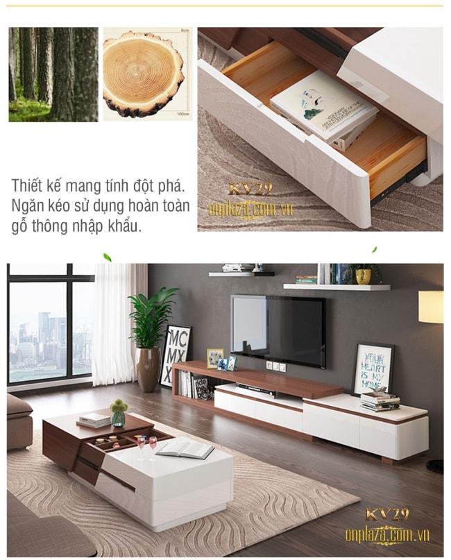 lựa chọn kệ tivi bằng gỗ hiện đại