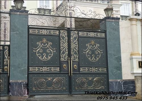 Mẫu cổng chính 2 cánh đẹp