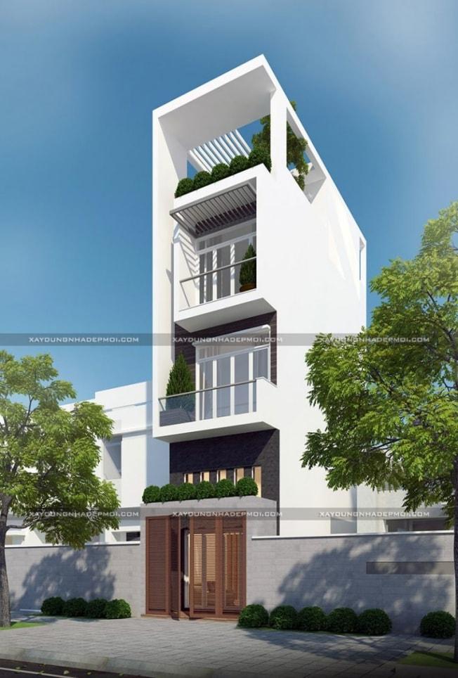 Chiêm ngưỡng mẫu nhà phố 5 tầng 4 phòng ngủ 1 gara