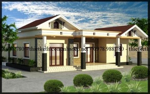 Giới thiệu mẫu nhà biệt thự vườn 1 tầng xây dựng tại Thái Nguyên