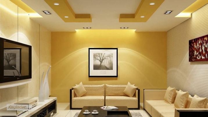 Thiết kế trần thạch cao phòng khách hiện đại 2019 mà bạn nên xem