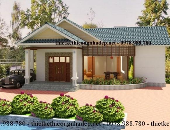 Giới thiệu bản vẽ nhà biệt thự 1 tầng đẹp tại Bình Phước