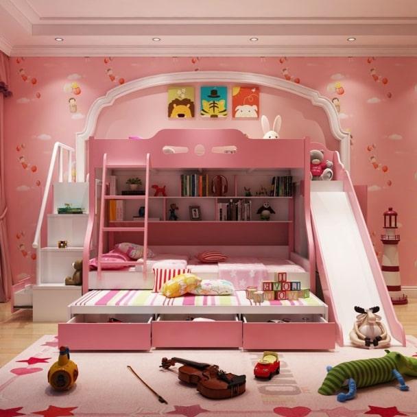 Giường 3 tầng đa năng cho bé